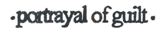 logo Portrayal Of Guilt