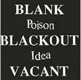 Pochette Blank Blackout Vacant