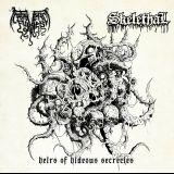 Pochette Heirs Of Hideous Secrecies (split avec Skelethal)