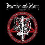 Pochette Desecration & Sodomy (split avec Black Witchery)