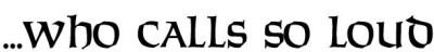 logo ...Who Calls So Loud