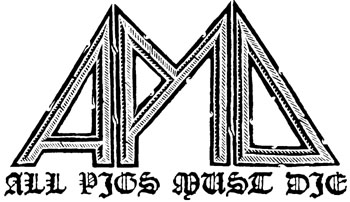 logo All Pigs Must Die