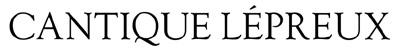 logo Cantique Lépreux