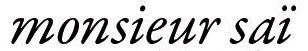logo Monsieur Saï