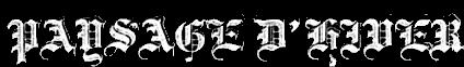 logo Paysage D'Hiver