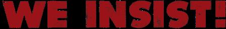 logo We Insist!