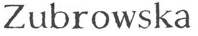 logo Zubrowska
