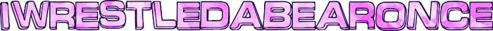 logo Iwrestledabearonce