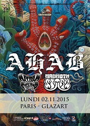 Live Report : Ahab, Mammoth Storm et High Fighter le 2 novembre 2015