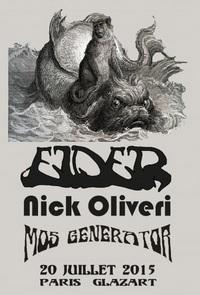 Live Report : Elder, Nick Oliveri, Mos Generator au Glazart