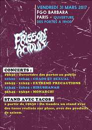 Live Report : Frisson Acidulé : vendredi 31 mars