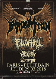 Live Report : Immolation, Full Of Hell, Monument of Minsathropy et Stortregn le 29 mars
