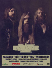 Live Report : Kadavar, Coffin On Tyres, Watertank
