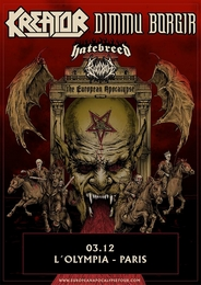 Live Report : Kreator, Dimmu Borgir, Hatebreed à Paris