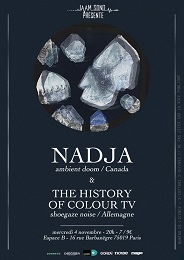 Live Report : Nadja, The History Of Colour TV et Eartheater le 4 novembre 2015