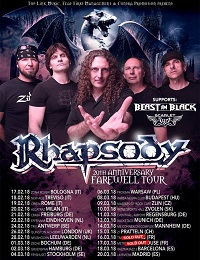 Live Report : Rhapsody, Beast In Black, Scarlet Aura