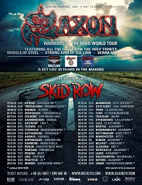 Live Report : Saxon et Skid Row