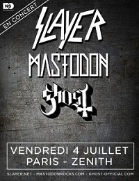 Live Report : Slayer / Mastodon / Ghost