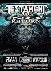 Live Report : Testament et No Return le 14/06/2015