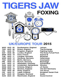 Live Report : Tigers Jaw, Foxing