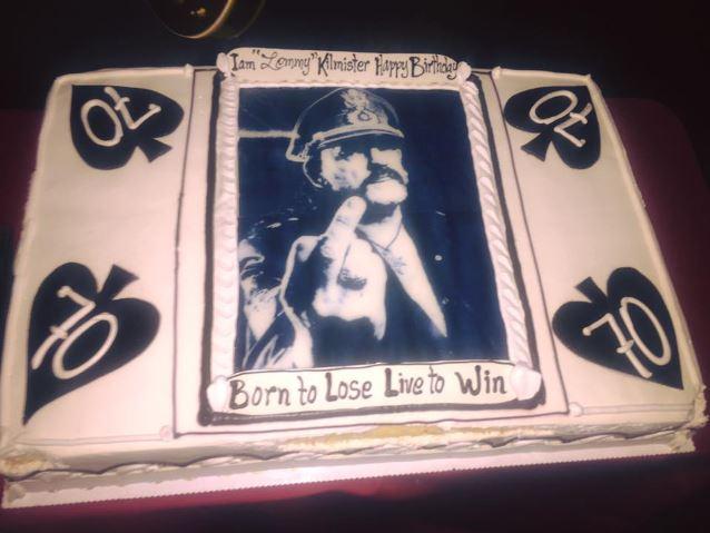 Lemmy Birthday Cake