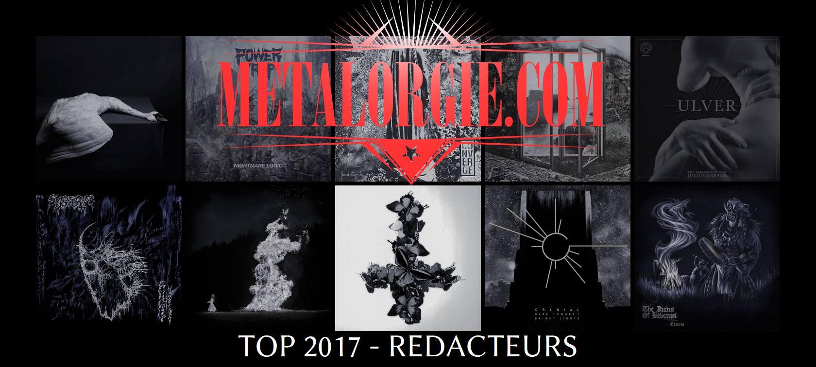 Top 2017 par l'équipe Metalorgie